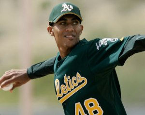 Ynoa was signed by the Oakland A's in 2008.