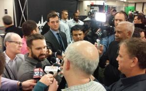Adam Eaton spoke to the media during the media session on Friday.
