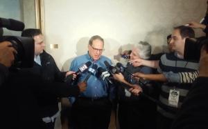 White Sox Chairman Jerry Reinsdorf spoke to the media on Saturday.