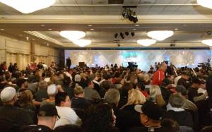 A packed house attended the SoxFest opening ceremonies.